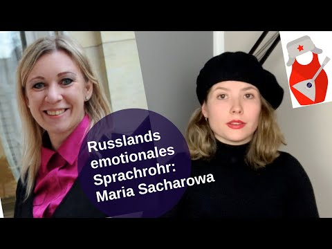 Russlands emotionales Sprachrohr: Maria Sacharowa [Video]