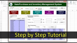 Inventory Management form in Excel   Step by step complete tutorial