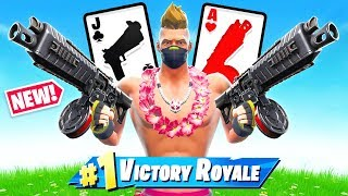 *NEW* DRUM SHOTGUN 21 Card Game in Fortnite Battle Royale