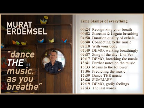 Online Tango Course. Murat Erdemsel teaching how to dance with your breath and music.