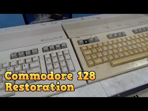 Commodore 128 Complete Restoration and Board Repair.