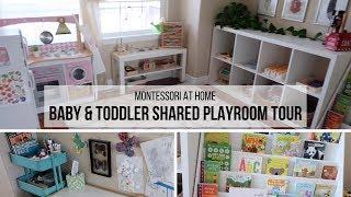MONTESSORI AT HOME: Montessori Playroom Tour (Shared Baby & Toddler!)