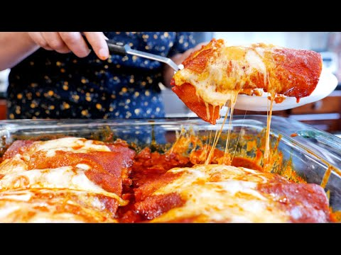 CREAMY BREAKFAST ENCHILADAS RECIPE | Easy Creamy Enchilada Sauce Recipe | Enchiladas Rojas