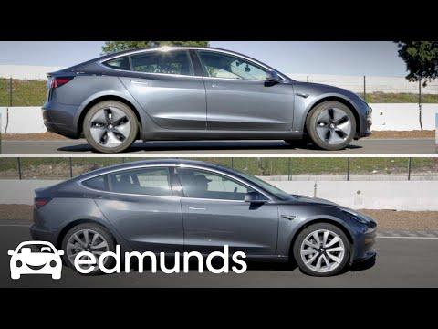 Tesla Model 3: 19-Inch Wheel Comparison | Track Test | Edmunds