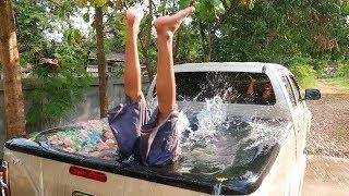 วิธีทำสระน้ำบนหลังรถ!!