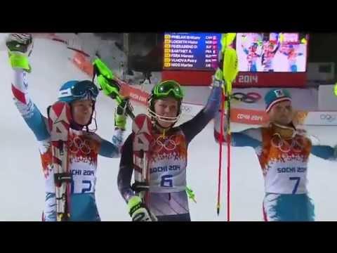 Mikaela Shiffrin Olympic Run 2014