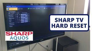 [Hard Reset] SHARP AQUOS TV to Factory Settings    Hard Reset a SHARP Smart TV