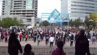 Hip Hop FLASH MOB Tribute -  Kardinal Offishal, Maestro Fresh Wes, Choclair