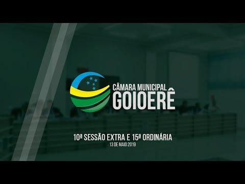10ª Sessão Extra e 15ª Ordinária - 2019