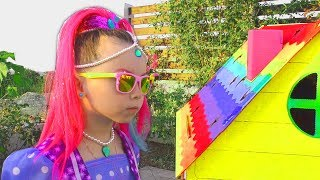 Alice Pretend Princess then Builds Playhouse for kids | Compilation by kids smile tv
