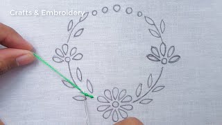 Hand Embroidery Patterns, Easy Flower Embroidery Tutorial, Latest Flower Design