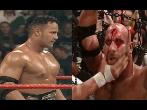 The Rock VS Goldberg - WWE  Wrestling bloodiest Match Ever ! that have happened in 2016