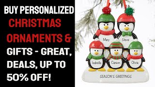 Buy Personalized Christmas Ornaments and Gifts | Great Deals Up to 50% Off!