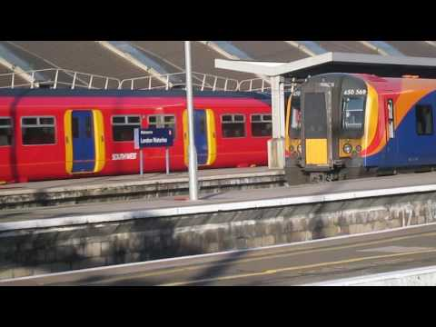 Southwest Trains EMUs at London Waterloo 27th December 2016