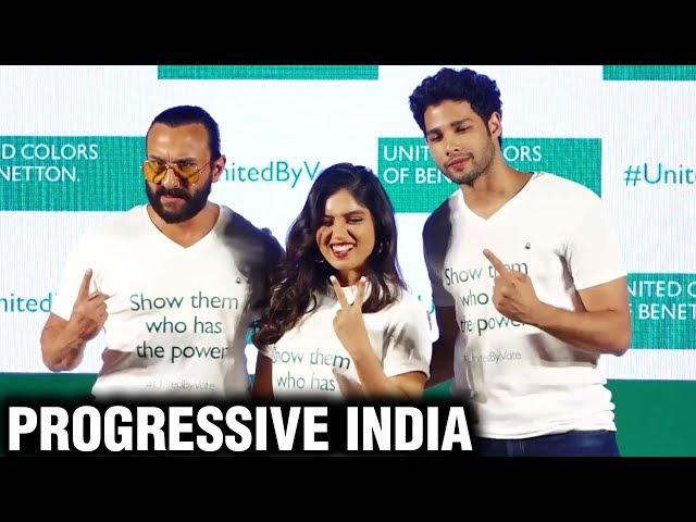 Saif Ali Khan Bhumi Pednekar Siddhant Chaturvedi Talk On Progressive India | Full EVENT