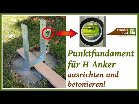 Punktfundamente betonieren | Betonfundament gießen | Fundament ausrichten | 🔥 Franks Shed 🔥