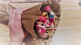 Букет из конфет на 14 февраля своими руками сладкий подарок✔ Marine DIY Guloyan✔