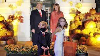 Watch: Trump confronted by mini-Trump at White House Halloween event
