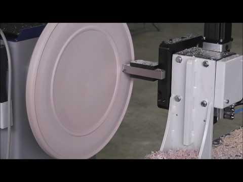 Hager HD300A-CNC Drechselbank Anfertigung Holzteller