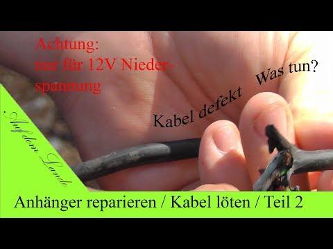 Anhänger Reparatur Teil 2/3 / Defektes Kabel reparieren / UV Kleber