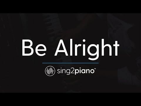 Be Alright (Piano Karaoke Instrumental) Dean Lewis