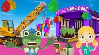 Gecko's SURPRISE Birthday Party   Truck Cartoons For Children   Gecko's Garage