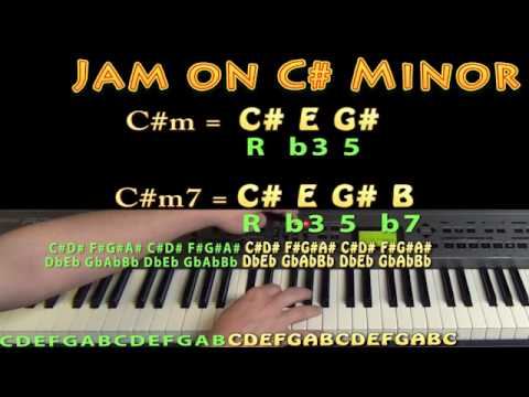 C# Minor Chord - C#m - C# E G# - M.M.=60 - JAMTRACK - Keyboard Loop