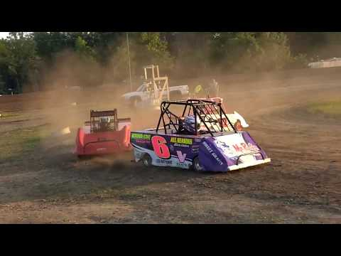 Mini Wedge Racing Action Mt. Pleasant Mi. Dirt Track
