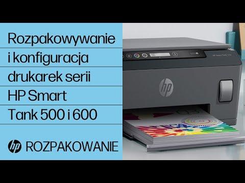 Rozpakowywanie i konfiguracja drukarek serii HP Smart Tank 500 i 600
