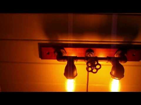 Бра в стиле лофт за 2 часа.The lamp in the loft in 2 hours