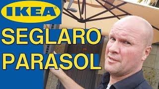 IKEA SEGLARO PARASOL for garden or patio, review unboxing and assembly instructions! IKEA DAD