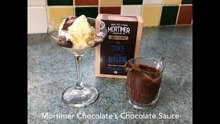 Sumptuous Chocolate Sauce, turning ice cream into a sundae