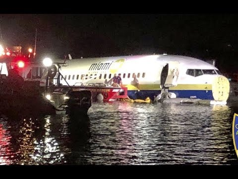Boeing 737 Coming From Guantanamo Bay Skids Off Runway Into Florida River After Landing