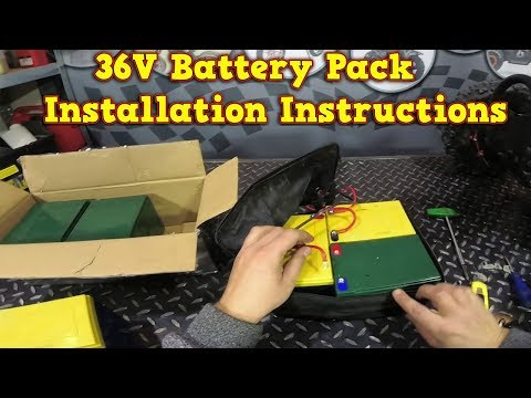 Electric Quad Bike - NEW BATTERIES - 36V - Installation Instructions