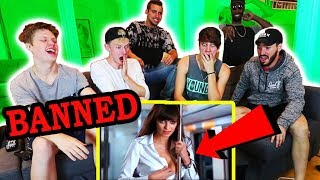 REACTING TO BANNED COMMERCIALS w/ MY ROOMMATES | Sam Golbach