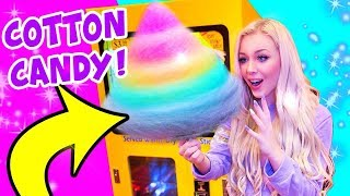 I FOUND A GIANT COTTON CANDY VENDING MACHINE AT THE ARCADE!!