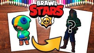 Rysuję LEONA z BRAWL STARS  .feat TheJerry