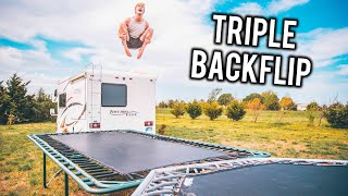 DOING MY HARDEST TRAMPOLINE TRICK 4 YEARS LATER!