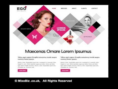 Fashion related web design samples ( MixoBiz )