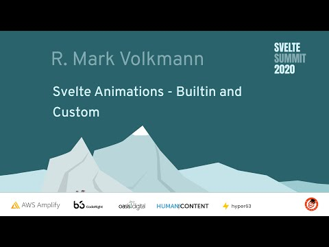 Image thumbnail for talk Svelte Animations - Builtin and Custom