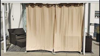 Outdoor Vorhang befestigen (Anleitung)
