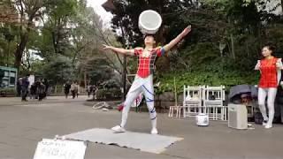 Amazing Street Juggler Performing at Ueno Park Central Tokyo