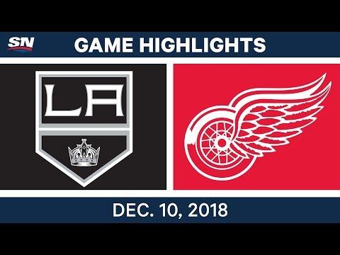 NHL Highlights   Kings vs. Red Wings - Dec 10, 2018