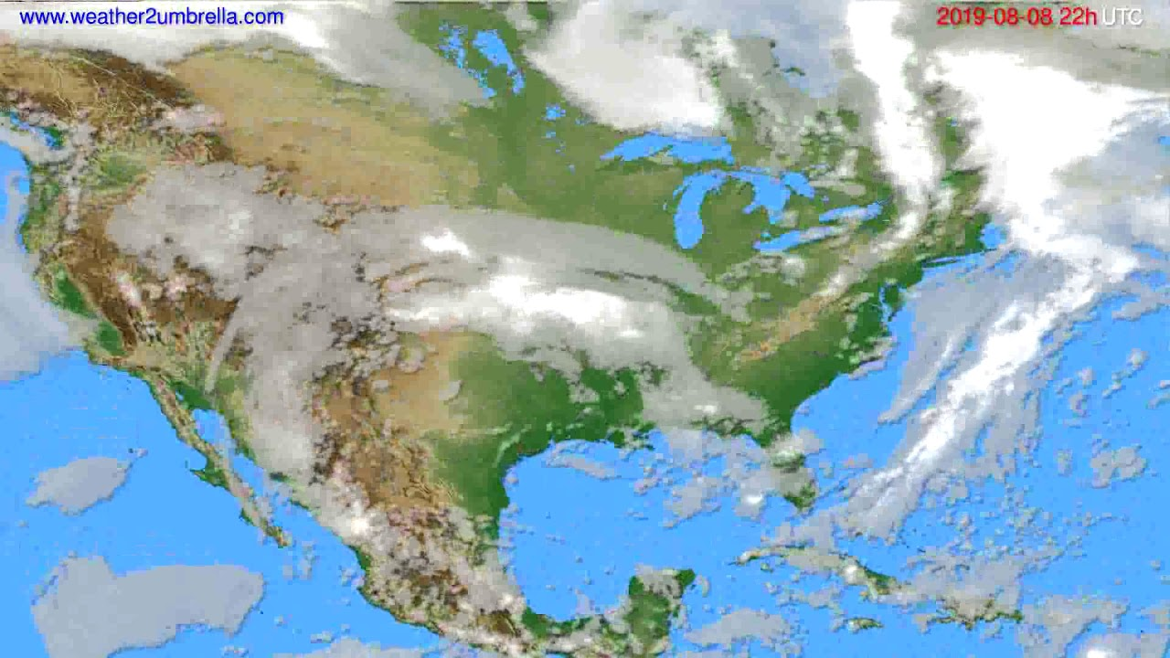 Cloud forecast USA & Canada // modelrun: 00h UTC 2019-08-06