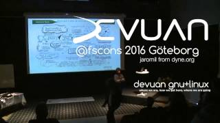 Devuan GNU+Linux presented at FSCONS 2016