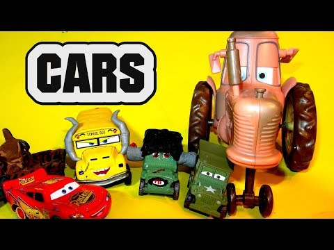 Pixar Cars Sarge Custom Paint Frankenstein Halloween With Lightning McQueen And Tow Mater Doc Hudson