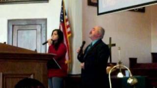 Asadour and Britta singing Hallelujah