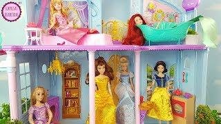 Las Princesas Llegan A Su Castillo Mágico Disney - Blancanieves, Cenicienta, Bella, Ariel Y Aurora