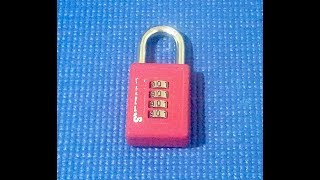 (Picking 68) 4-wheel combo lock picked quickly by ear! (decoded)