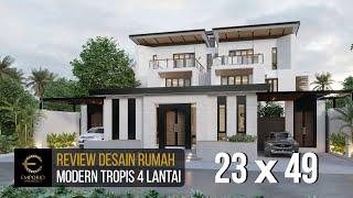 Video Desain Rumah Modern 4 Lantai Mr. Qasem di  Arab Saudi